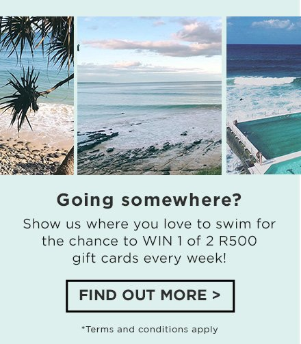 Show us where you love to swim for your chance to win 1 of 2 R70^0 gift cards every week! Find out more at instagram.com/cottononkids