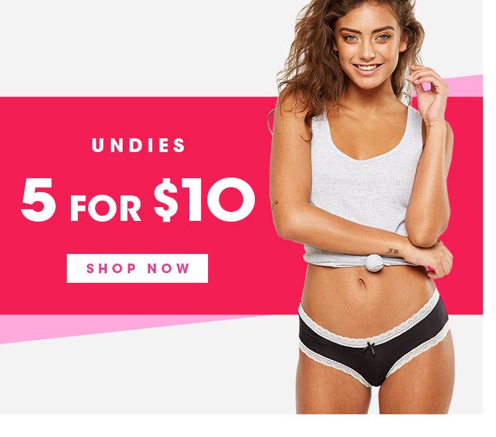 Undies   Now $4