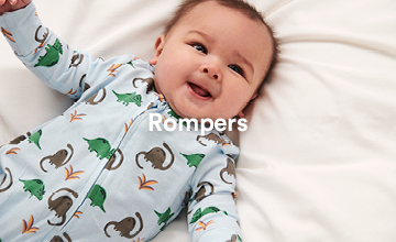 Rompers. Shop Now.