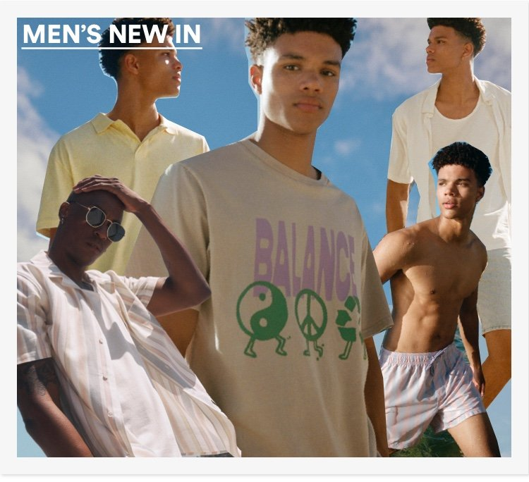 Men's New In. Click to Shop.