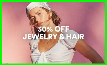 30% off Jewelry & Hair. Click to shop.