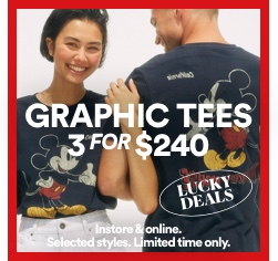 Graphic Tees 3 For $240