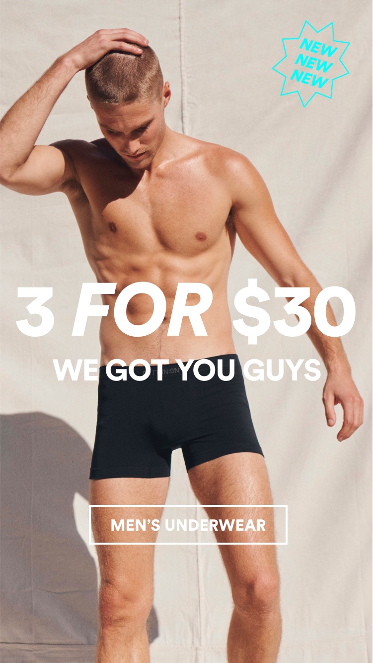 Men's Trunks 3 for $35. Click to shop.