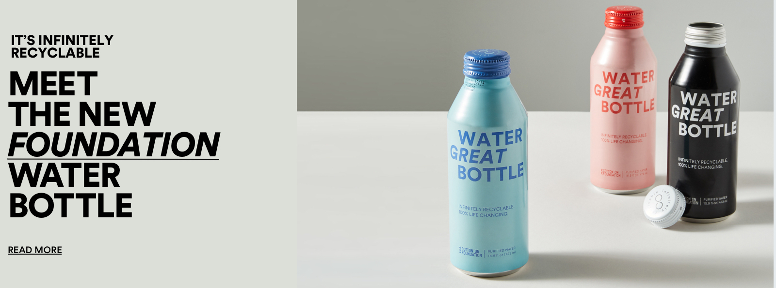 Meet the new Foundation Water Bottle. Click to Read More.