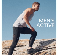 Men's Activewear. Click to shop.