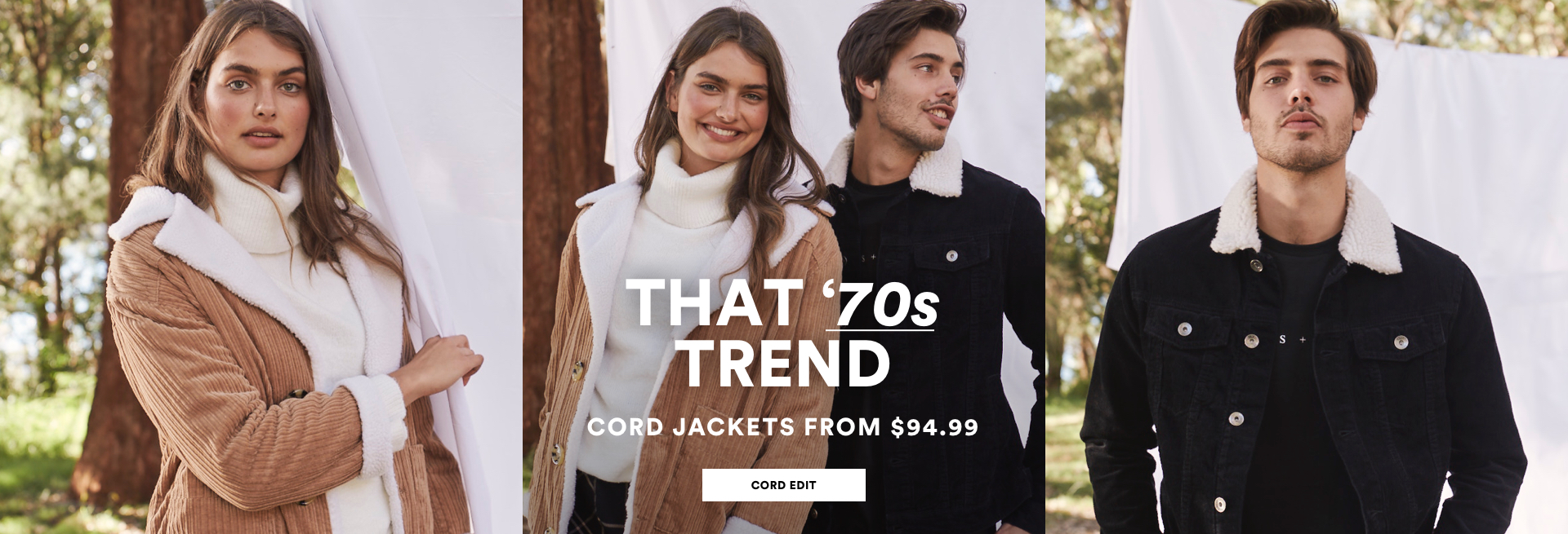 That 70's trend. Cord jackets from $94.99. Shop the cord edit.