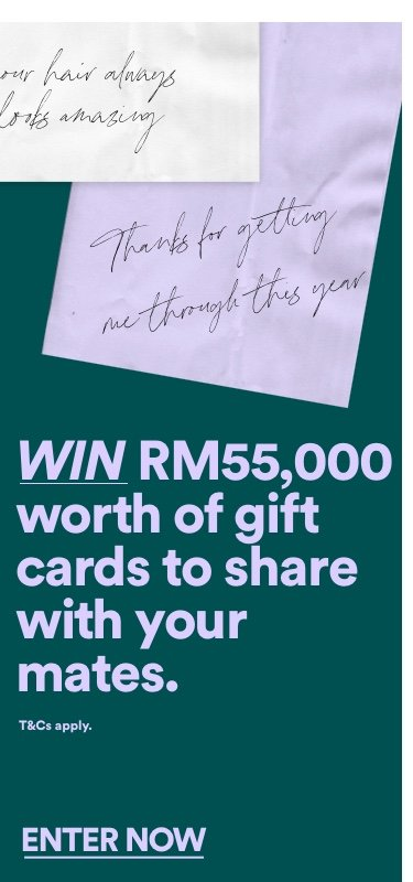 Win Gift cards and share with your mate. Click to enter.