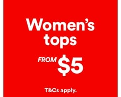 Women's Tops from $5. Click to Shop