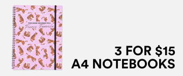 Shop 3 for $15 A4 Notebooks