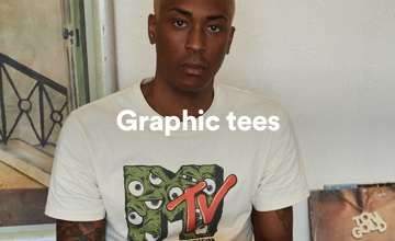 Men's Graphic Tees. Click to Shop.