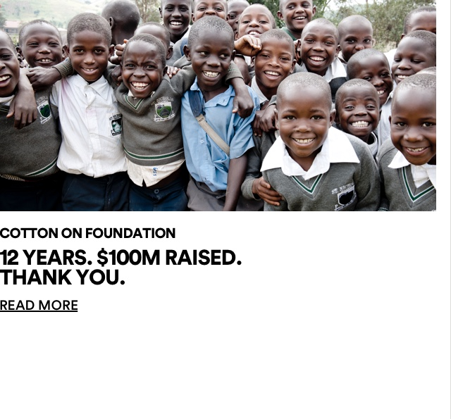 The Good Foundation. 12 years. 100 million raised. Thank you. Click for more information.