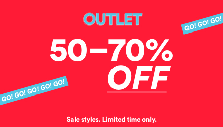 Outlet Sale. Click to shop.
