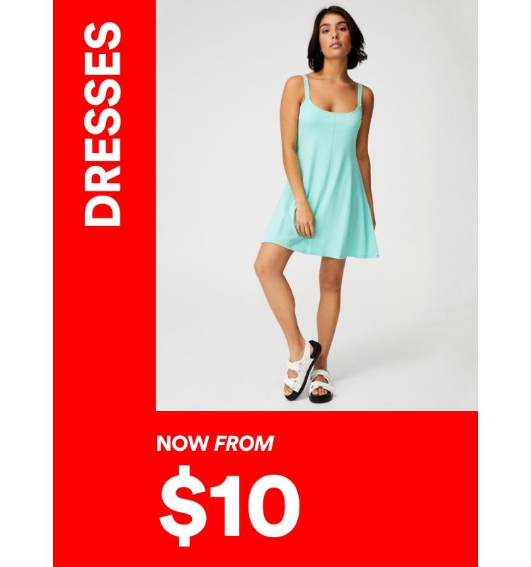 $10 Dresses. Click to Shop.