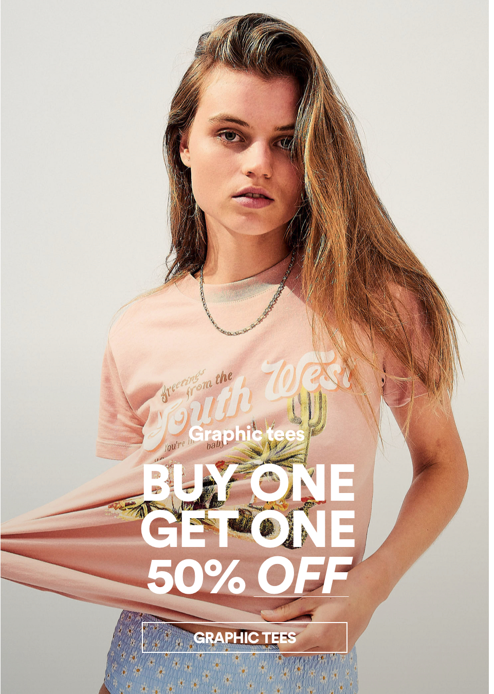 Buy One, Get One 50% Off Graphic Tees. Shop Now.
