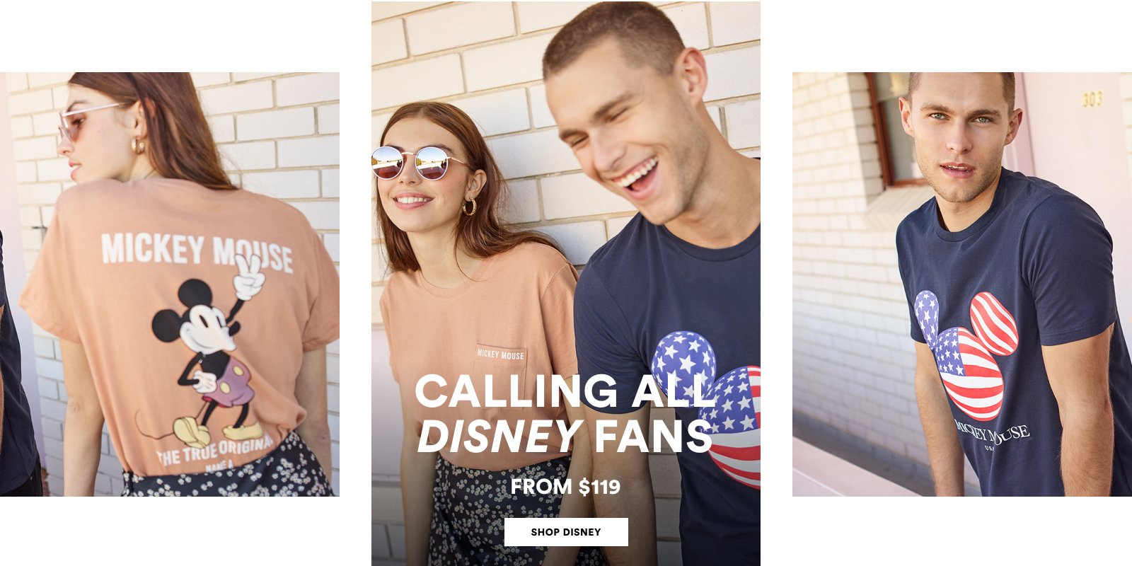 Calling all Disney fans. From $119. Click to Shop Disney.