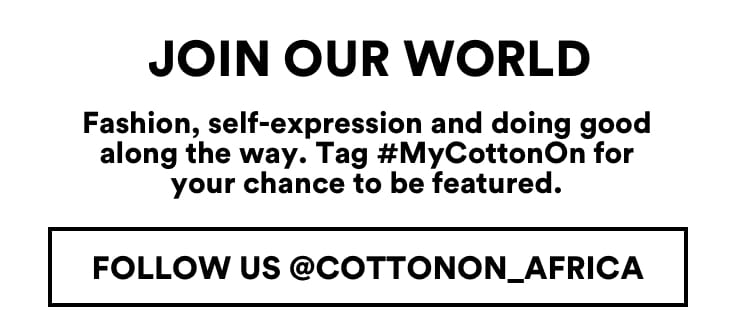 Cotton On. Instagram @cottonon.