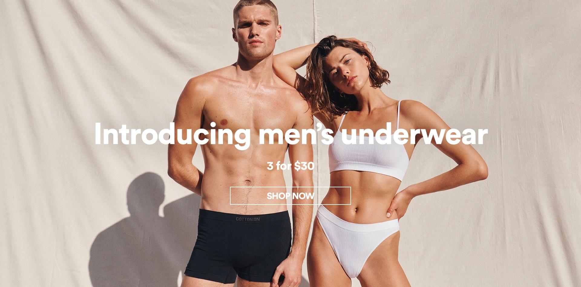 Introducing Men's Underwear. Shop Now.