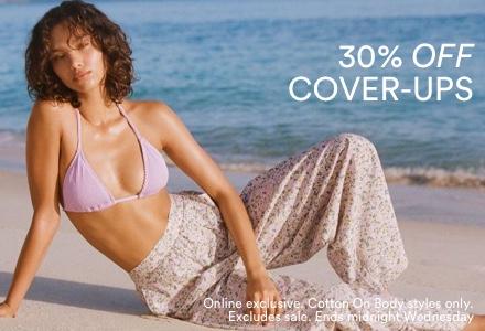 30% Off Swim Cover Ups. Click to Shop