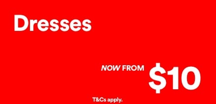 Dresses, Now From $10. Click to Shop