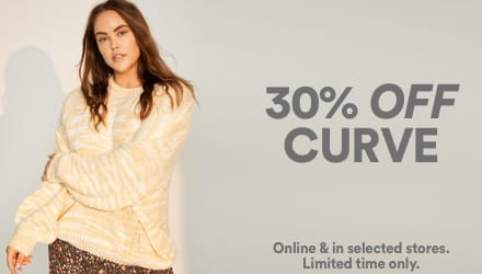 30% Off Curve. Click to shop.