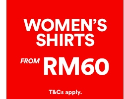 Women's Shirts from RM60. Click to shop.