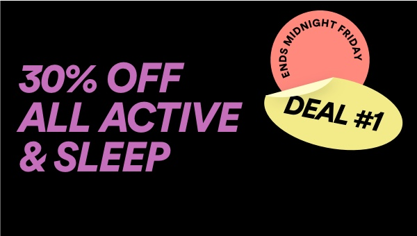 Cotton On. 30 percent off all active and sleep. Click to shop.