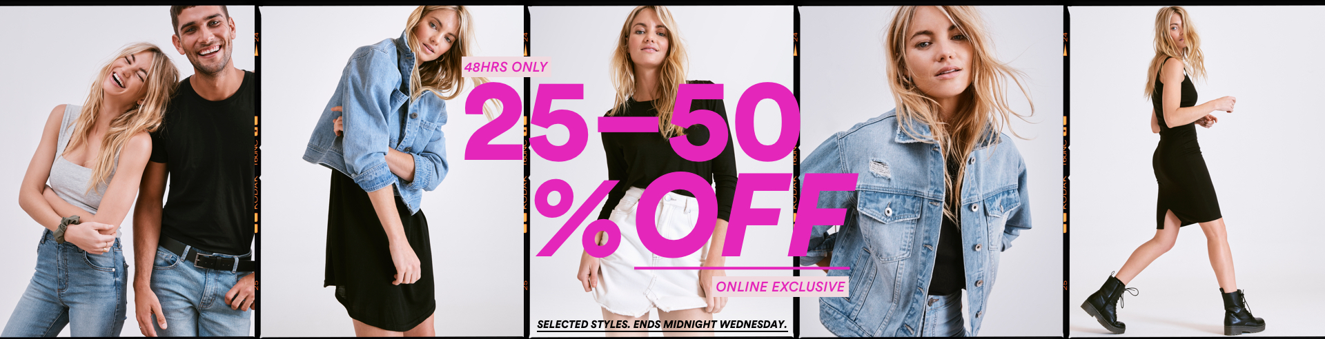 48 hours only. 30 to 50 percent off. Online Exclusive. Click to shop.