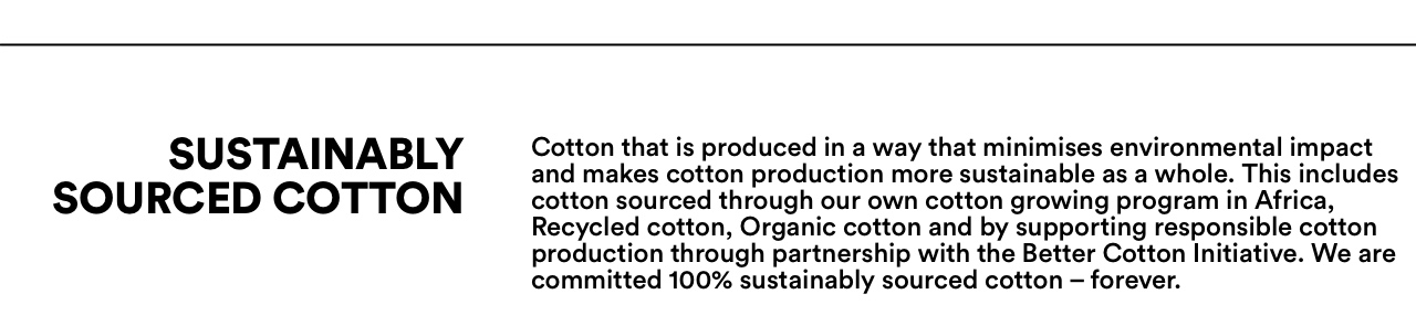 Sustainably Sourced Cotton