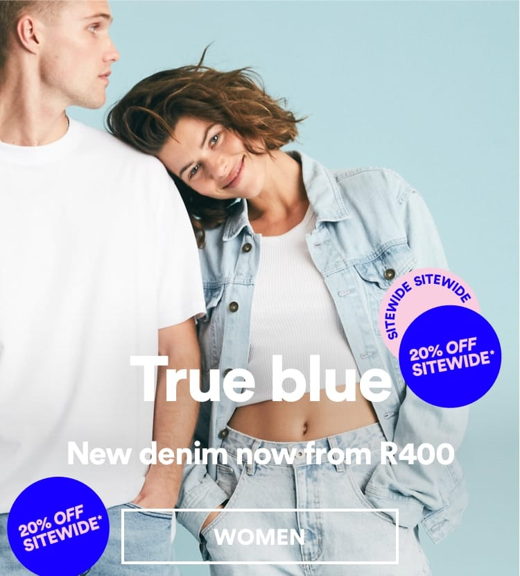 True Blue, New Denim. Shop Women.