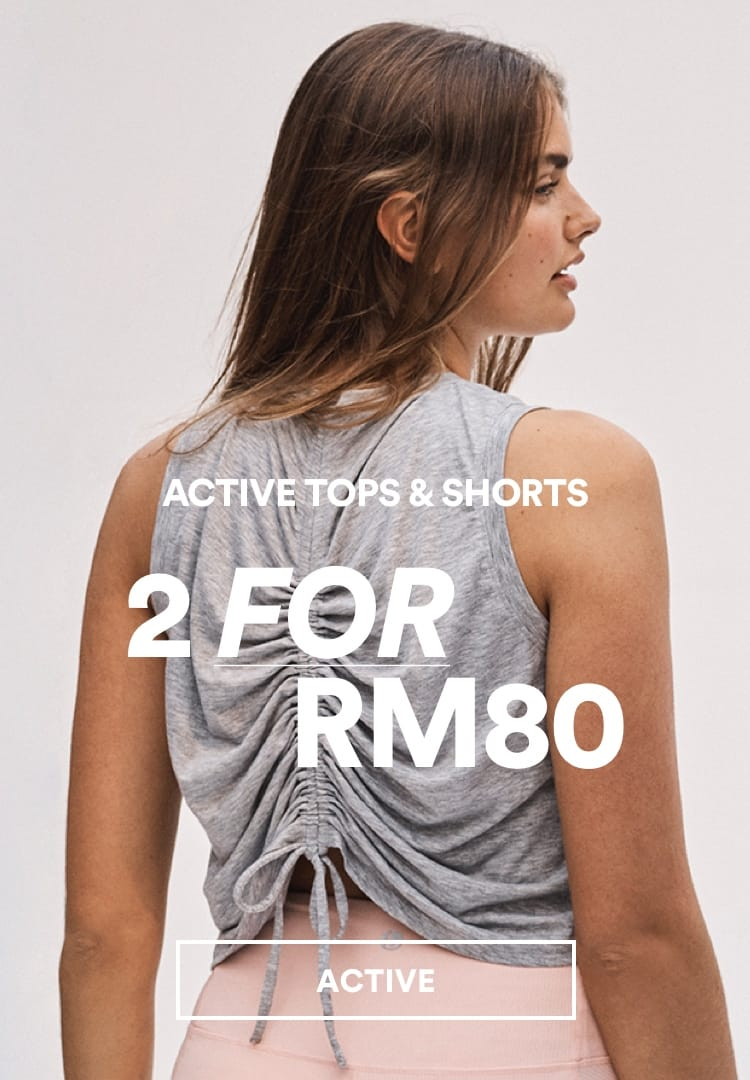 Active Tops & Shorts. Click to Shop