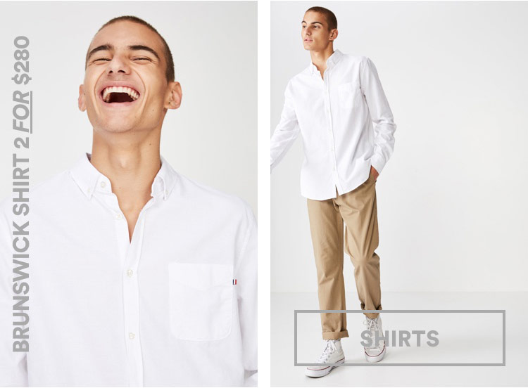 Men's Brunswick Shirt. Click to Shop.