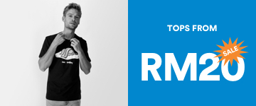 Men's Tops From RM20. Click to Shop.