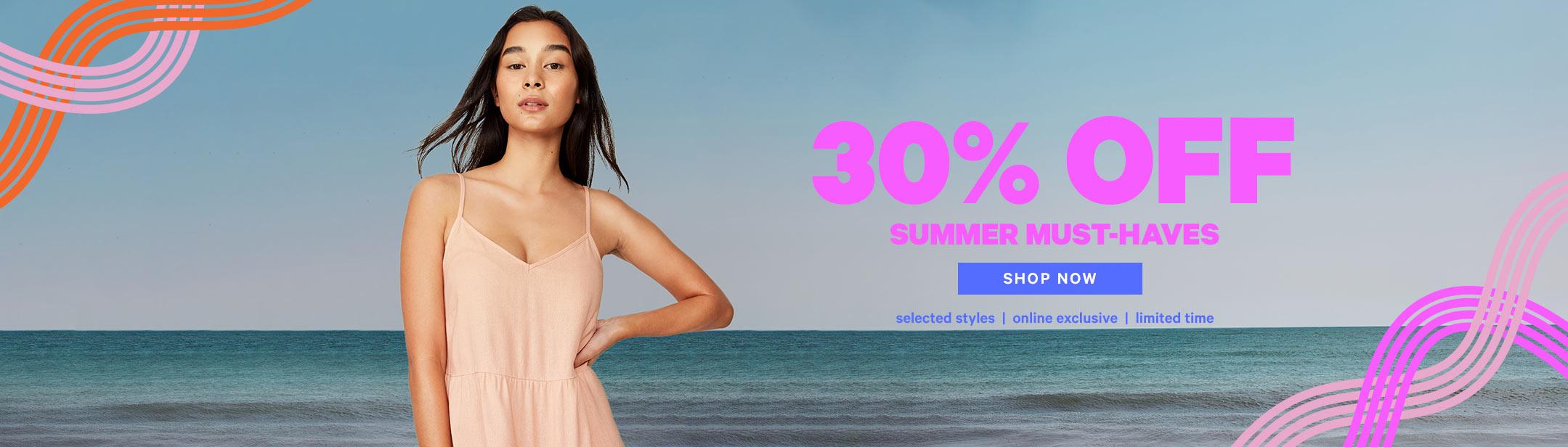 30% Off Summer Styles