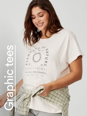 Curve Graphic tees. Click to shop.