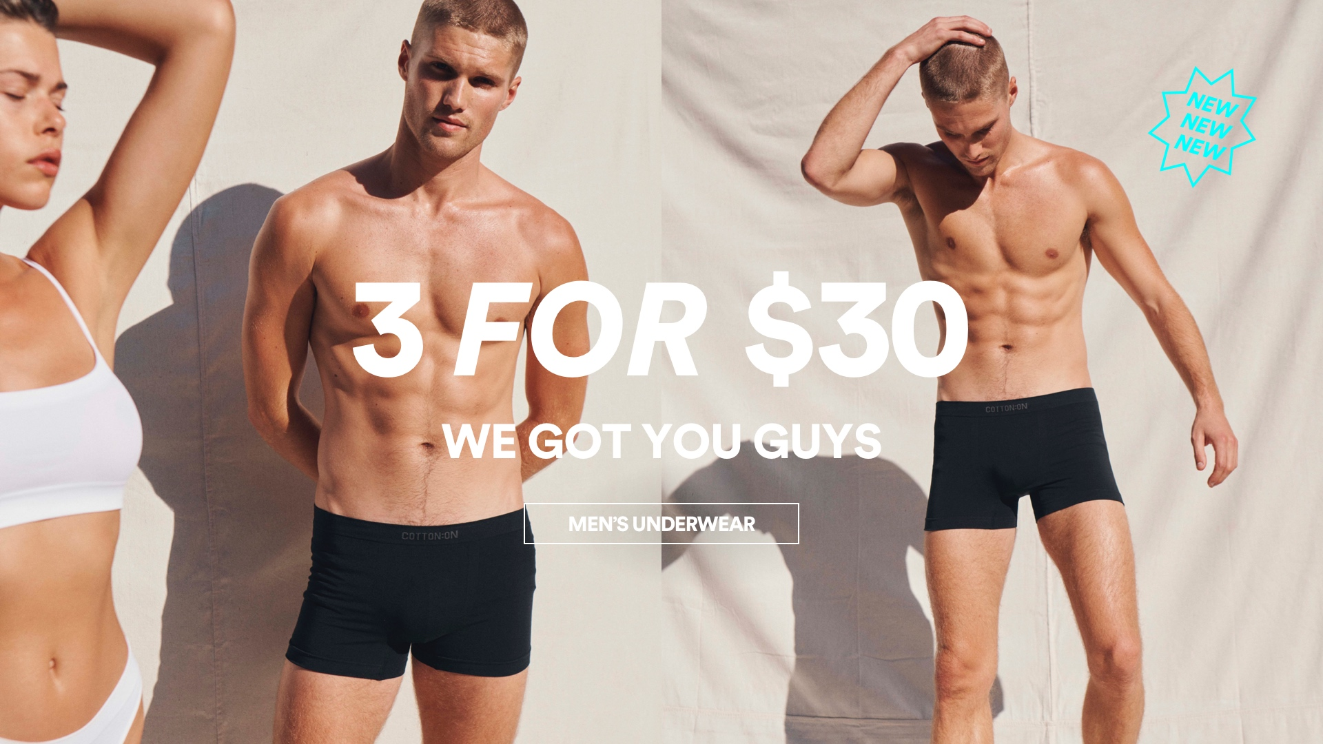 Men's Trunks 3 for $30. Click to shop.