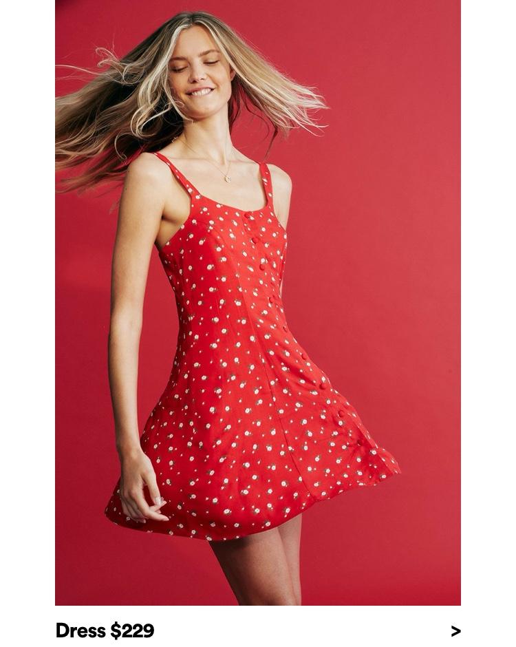 Dress $229. Click to Shop Dresses.