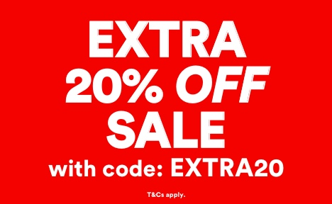 EXTRA20 Sale Accessories with code EXTRA20. Click to Shop.