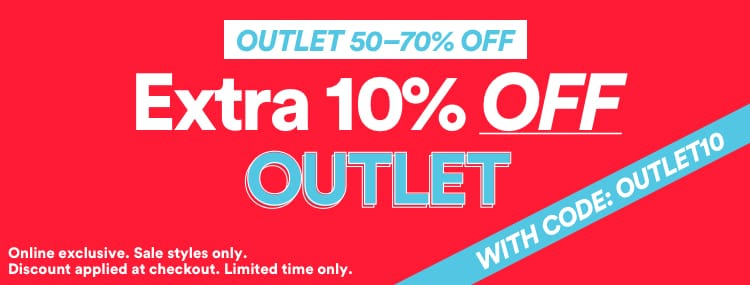 Extra 10% off Outlet. Click to Shop.