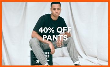 40% off Men's Pants. Click to Shop.