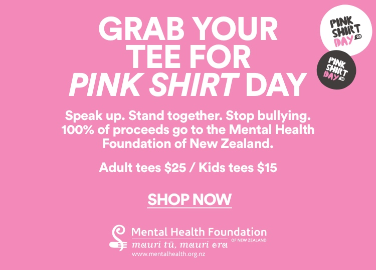Grab a tee for Pink Shirt Day. Click to Shop.