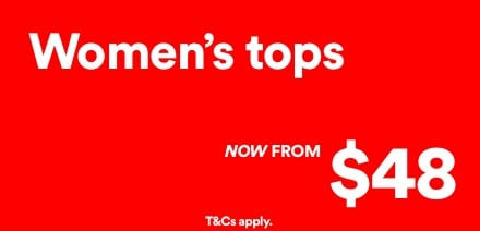 Women's Tops, now from $48. Click to Shop.