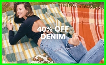 40% off Women's Denim. Click to Shop.