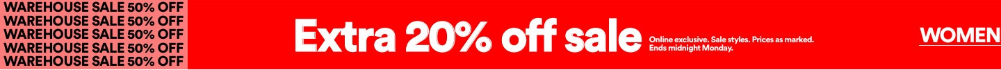 Extra 20% Off Sale. Click to Shop Women's.