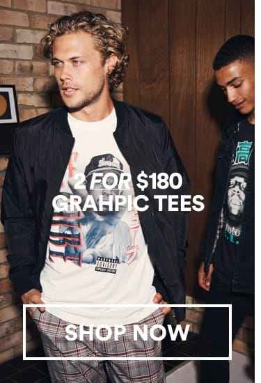 Men's Graphic Tees. Click to Shop