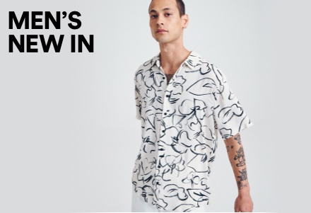 Mens New In. Click to Shop