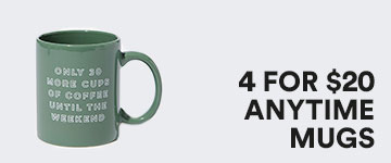 Anytime Mugs. Click to Shop.