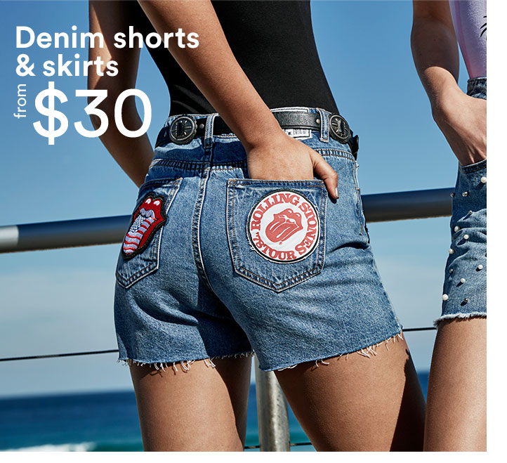 Denim shorts $30