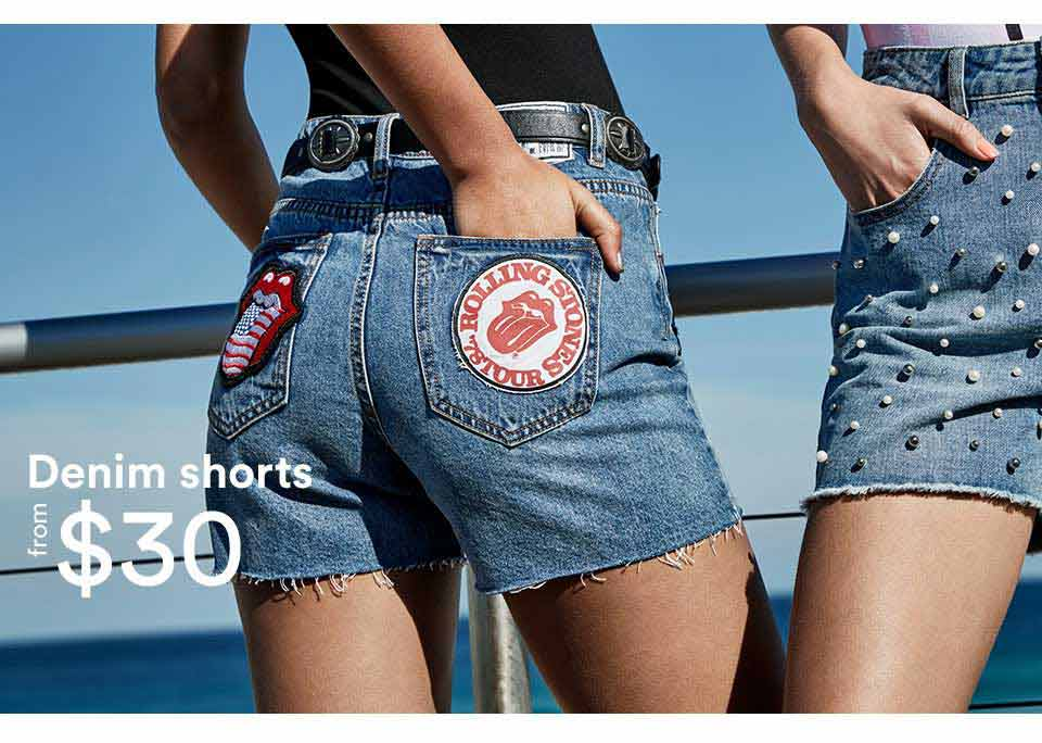 Denim shorts, from $30