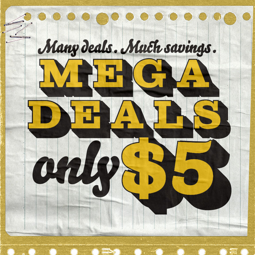 Shop $5 MEGA deals at Typo