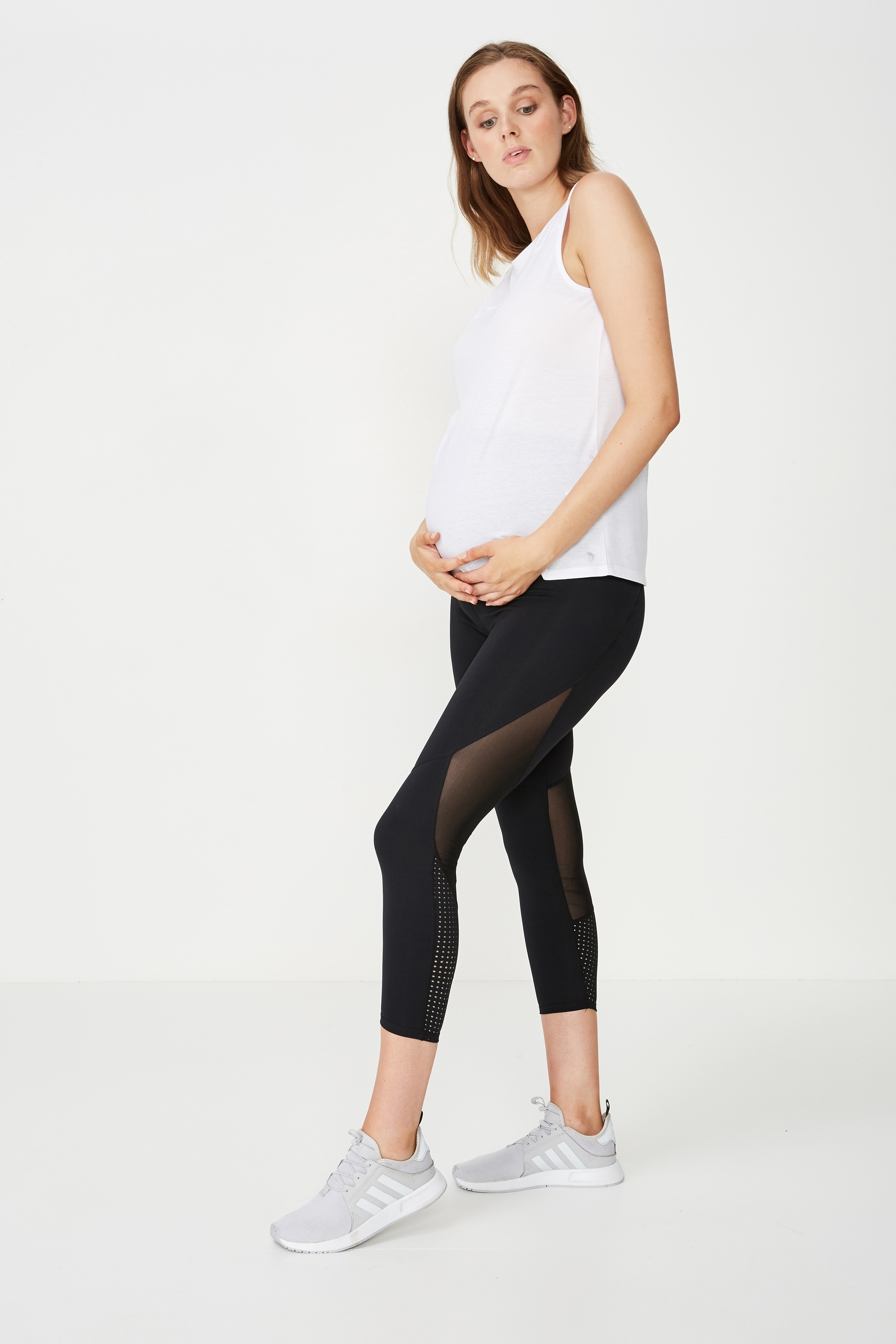 a34001073cd Maternity Asymmetric Mesh Tank Top | Women's Lifestyle Fashion Brand ...